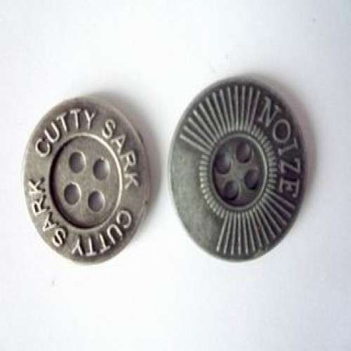 Alloy Jean Button