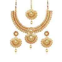 Kundan Gold Necklace Set