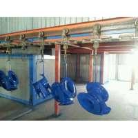 Powder coating conveyor