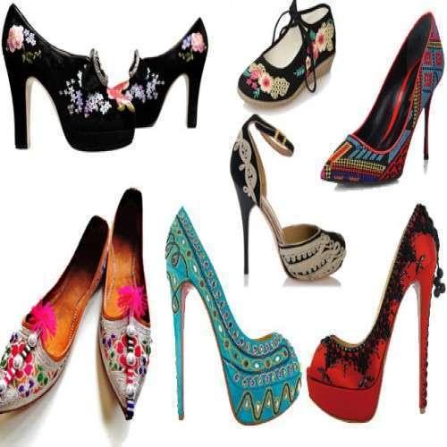 Ladies Embroidered Footwear