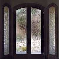 Decorative Glass Door