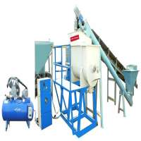 Cellular lightweight concrete block machine