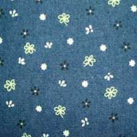 Printed denim fabric