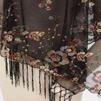 Fringed shawls