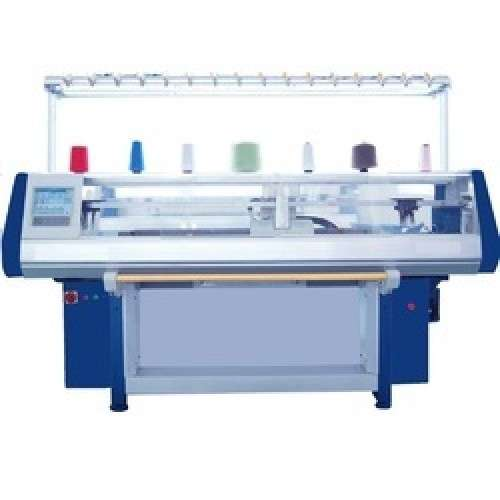 Semi Computerized Flat Knitting Machine