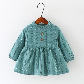 f435a75fef Frock Designs Baby Girls Cotton Warm Dresses Of Pictures From Shanghai  Jingzhi Apparel Co.