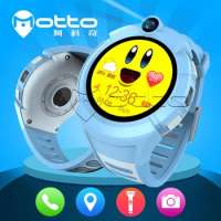 Cartoon HD camera touch screen colorful display wifi gps tracker smart kids watch Manufacturer