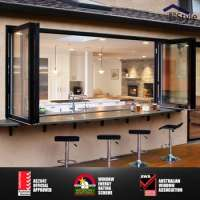 Soundproof glass balcony folding window grill doors Manufacturer