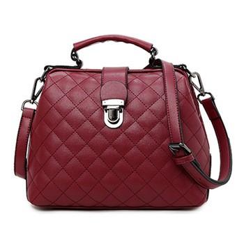 4fd310f272 women diamond lattice leather doctor bag