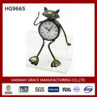 Metal Animal Decorative Table Clock