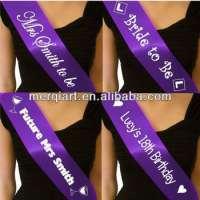 customized bridal satin sash Manufacturer