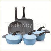 Die Casting Aluminum and Ceramic Coating Cookware Set