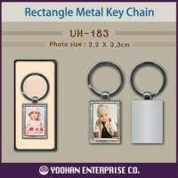 Rectangle Metal Photo Key Chain Manufacturer