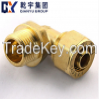 F1 Copper Compression Fitting Nickeled Plating Male Elbow Manufacturer