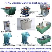 Rectangular tin can making machine