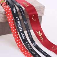 Wholesale Custom Printed Logo into colorful Satin Ribbon Manufacturer