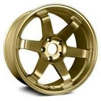 Gold colored alloy car wheel rim  Manufacturer