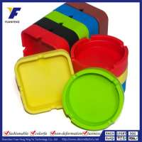 Assorted Colors Silicone Round Cigarette Cigar Tabletop Ashtray Manufacturer