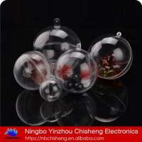 HOTCAKE 5cm 6cm 7cm 8cm 9cm 10cm 11cm 12cm clear hollow plastic Christmas tree ball decorationsPlastic ball Manufacturer