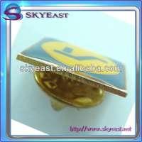 Metal pin badge gold plating & enamel
