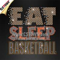 Eat sleep basketball garment motif