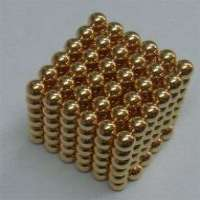 5mm neocube gold neocube magnetic balls Manufacturer