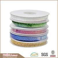 decorations colorful metallic glitter ribbon Manufacturer
