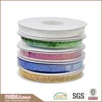 decorations colorful metallic glitter ribbon