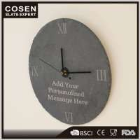 Decoration Slate Stone Marble Wall Clock Manufacturer