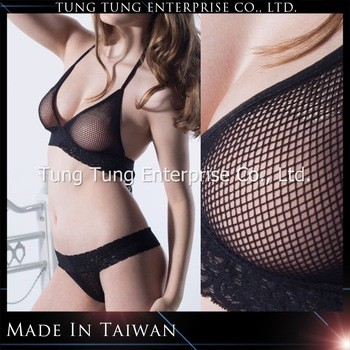 bfbba0bee73c4 Women Fishnet Halter Bra And Lace Thong From TUNG TUNG ENTERPRISE CO ...