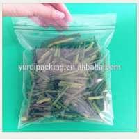 Double track green tea ziplock plastic bags