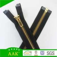 leather brass metal zipper
