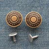 metal shank jeans button