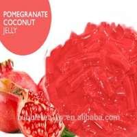 Pomegranate Coconut Jelly Bubble Tea