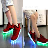 Children Boys And Girls Flashing LED Shoes Sneakers KidsLed Light Net Shoes Manufacturer