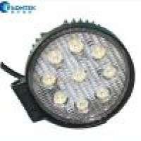 LED Work Lamp Round Headlight 27W 4WD LED Headlamp Round Jeep SUV UTV Tractor Manufacturer
