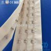 Laminated Tapes and 3rows Bra hook and eye tape by meter corsetunderwear Manufacturer