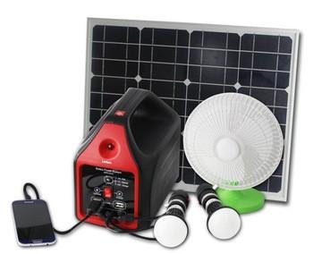 Portable Solar Power Generator LED Lamp