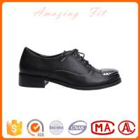 Black gents women causal shoes laceup ankle falt metal toe shoes Manufacturer