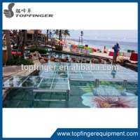 transparent wedding stage aluminum glass stage sturdy acrylic stage Manufacturer