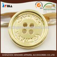 gold plated engraved plastic button Manufacturer