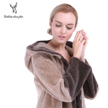 Double face sheepskin coat women s leather coat