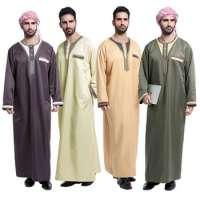 Sewing Thoub Abaya Robe Daffah Dishdasha Islamic Arabian Kaftan Men Saudi Thobe Manufacturer