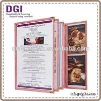Sewn edge A4 clear plastic menu covers clear plastic menu covers Manufacturer