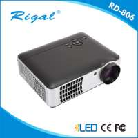 High lumens home theater music system ledlcd projector portable audio video full HD projector 1080p