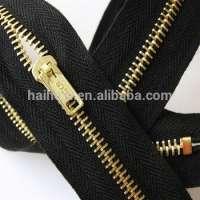 Brass metal zippers flame retardant tape