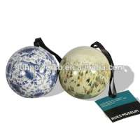 Round Christmas gift tin ball christmas decorating Manufacturer