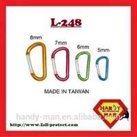 L248 D Shaped Aluminum Carabiner Keychain Manufacturer
