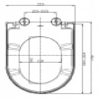 Slow close d shape duroplast toilet seat cover Manufacturer