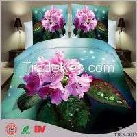 80gsm polyester fiber duvet cover bedding set 3D activity Manufacturer